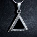 Triangle Shaped Silver Pendant