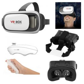 3D Glasses VR BOX With Bluetooth Remote